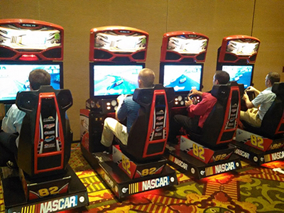 Arcade Machines Rental in Durham NC - ThunderDome Entertainment - EA_Nascar_Racing_Simulators
