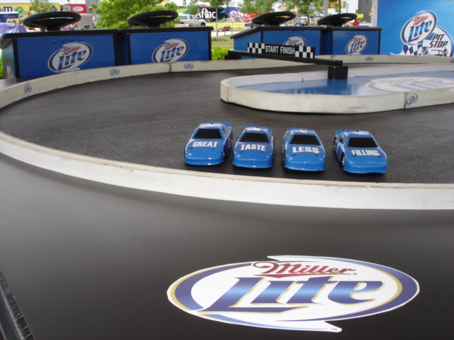 Custom Branded Games & Attractions - ThunderDome Entertainment - Mini_Track_-_Miller_Lite_-_Chicagoland_Speedway_10